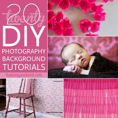 20 fantastic DIY photography backdrops & backgrounds - save hundreds of dollars making your own backdrops!