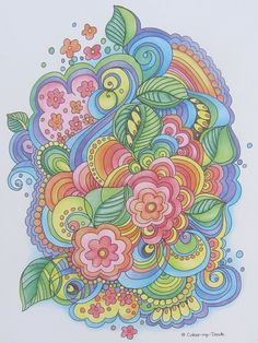 I chose this one as the cover of my colour-my-doodle colouring book