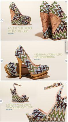 Creative shoe layouts.