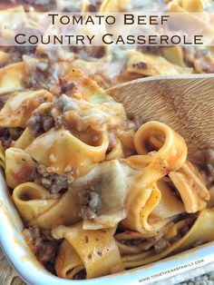 Tomato Beef Country Casserole from Together as Family is a featured recipe at Weekend Potluck #237