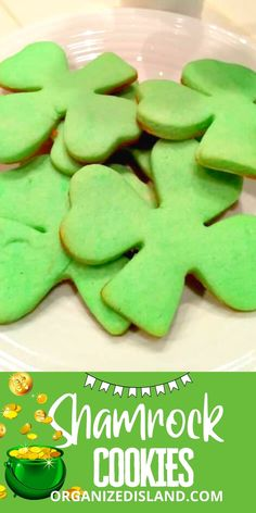 These Shamrock Cookies are soft and delicious! Perfect for a St. Patrick's Day dessert!#shamrockcookies#stpatricksday#cookirerecipe Easy Cookie Recipes, Easy Desserts, Delicious Desserts, Dessert Recipes, Simple Recipes, Rainbow Treats, St Patricks Day Food, Cream Cheese Cookies, Drop Cookies