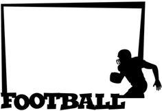 Silhouette Design Store - View Design #16260: football frame