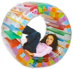 Inflatable Roller Wheel Climb Home Beach Kids Toy Play Fun Summer Garden Gift