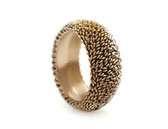 ANDREW LAMB-UK- Ring: Lenticular, 2013 18ct yellow and white gold 2.5 x 1 cm