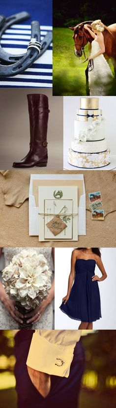 Equestrian chic wedding! This is soo me!! :) like the pic of the rings on a horseshoe