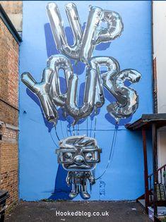 New street art london graffiti murals Ideas Street Art Banksy, Murals Street Art, New York Graffiti, Graffiti Murals, Graffiti Lettering, Graffiti Artists, Typography, Street Art London, Balloon Painting