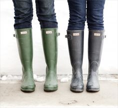 I luv my Hunter Wellies but now want them in Aubergine.  Not usually a purple fan but they are gorgeous.