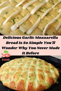 Cooking Bread, Cooking Recipes, Healthy Recipes, Cheesy Garlic Bread, Homemade Garlic Bread, Best Bread Recipe, Bread Recipes, Good Food, Yummy Food