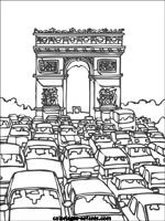 Coloriages de Paris -- even high school kids like these for a break (maybe a treat for finals week!)