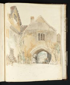 Joseph Mallord William Turner - Allington Castle: The Gateway Seen from the Courtyard, 1798