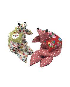 The Crafty Kit Co Beanbag Frogs sewing kit & pattern #sewing #sewed #craft #make #kit #gift