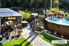 Nothing goes better with a pool than a patio built by Patio Design inc. Patio bring vacations life to your decor and improve your comfort. Pool Deck Plans, Patio Plans, Trex Composite Decking, Piscine Diy, Solar Pool Heater, Backyard Patio Designs, Swimming Pools Backyard, Exterior, Pool Ideas