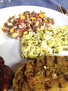 Veggie Grillen mit dem Rougette Grillkäse, den Grillers Maultaschen von Bürger und einem Quinoasalat www.kinderkuecheundso.de