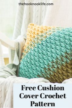 Make this DIY Pillow Cover using this Free Crochet Pattern on The Hook Nook Life Blog today! Save and Click to get started now! Diy Crochet Patterns, Love Crochet, Craft Patterns, Easy Crochet, Diy Crafts List, Diy Craft Projects, Front Post Double Crochet, Half Double Crochet, Crab Stitch