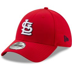 hot sales 9fad5 6e260 Men s St. Louis Cardinals New Era Red Perforated Play 39THIRTY Flex Hat,  Your Price