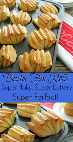 Butter Fan Rolls | Good Dinner Mom | these are easy to make with these step by step instructions and illustrations. Flaky, buttery, and tender. And beautiful.