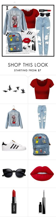 """""""Untitled #4"""" by jordangirl117 ❤ liked on Polyvore featuring Jayson Home, DK, Chicnova Fashion, Topshop, adidas, Lime Crime and Givenchy"""
