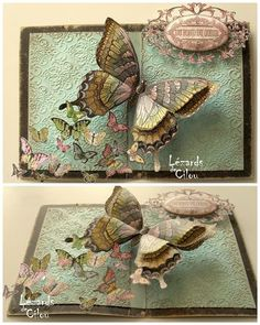 CARTE N°11 FEVRIER 2013 :: the butterfly effect - Swallowtail stamp // beautiful blog in French, look around!!