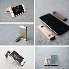Get Inspired: Wooden iPhone stand from FineGrain