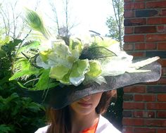 Items similar to Kentucky Derby Hat, Large Brim, Award Winning Hat Design on Etsy Kentucky Derby Hats, Cute Hats, Fashion Inspiration, Spring, Party, Fiesta Party, Parties