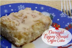 Mommy's Kitchen - Recipes from my Texas Kitchen : Overnight Eggnog Streusel Coffee Cake Breakfast Egg Casserole, Savory Breakfast, Breakfast Dishes, Breakfast Ideas, Breakfast Recipes, Streusel Coffee Cake, Streusel Topping, Ale, Delicious Desserts