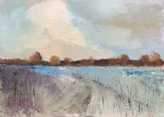 Track Through the Marshes: Colin Pollock Contemporary Landscape, Oil On Canvas, Landscapes, Track, Painting, Art, Paisajes, Art Background, Scenery