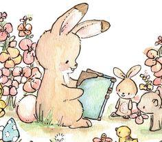 Vamos a leer un cuento. IMPRESIÓN 8 X 10. Niños por LoxlyHollow