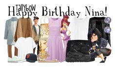 """Happy Birthday Nina!"" by tallybow ❤ liked on Polyvore featuring moda, Dorothy Perkins, Tadashi, Bonds, Chloé, Converse, Charlotte Russe, French Connection, AX Paris i Jennifer Zeuner"