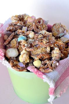Lucky Charms Snack Mix Recipe is the perfect combo of salty and sweet! http://thestir.cafemom.com/food_party/157781/lucky_charms_snack_mix_recipe?utm_medium=sm_source=pinterest_content=thestir