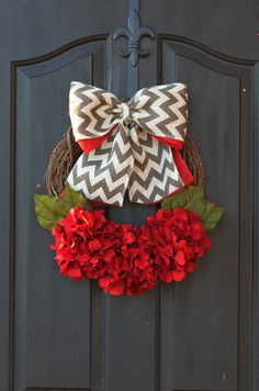 Christmas wreath Poinsettia  Holiday wreath by OurSentiments