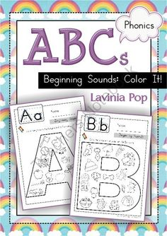 Beginning Sounds - Color It! from LaviniaPop on TeachersNotebook.com -  (30 pages)  - Basic beginning sounds worksheets for children in Preschool and Kindergarten