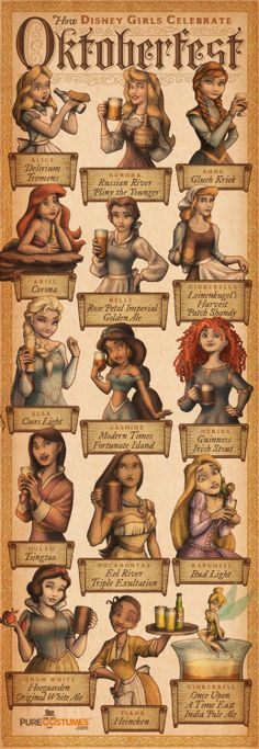 """How Disney Girls Celebrate Octoberfest"" by Ingvard the Terrible 