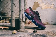 Men's Nike Air Vapormax Flyknit 2 - Black/Black/Team Red/Racer Blue - 42842006 - Nike Basketball Shoes, Nike Shoes, Casual Outfits, Men's Outfits, Nike Air Vapormax, Red Purple, Cleats, Nike Free, Running Shoes