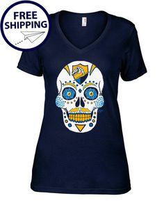 San Diego Chargers Sugar Skull  Dia De Los Bolts Navy by AFApparel