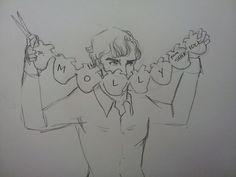 Lexie sometimes draws • Prompt: Sherlock/Molly; Valentine Sherlock...