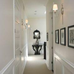 Nice design aesthetic for a narrow hallway