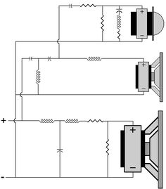 Complete Crossover Diagram Ex. Electronics Components, Diy Electronics, Electronics Projects, Subwoofer Box Design, Speaker Box Design, Hifi Audio, Car Audio, Audio Crossover, Diy Speakers