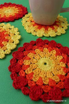 Ravelry: LyubavaCrochet's Easter Crochet Coasters Set Ready To Ship