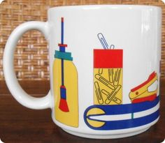 SOLD!!!  Vintage Taylor NG PRIMARY SUPPLIES Cut & Paste Ceramic Coffee Mug Cup 1984 Japan | eBay