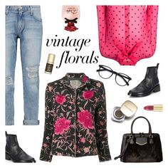 """""""Smell the Roses: Vintage Florals"""" by sproetje ❤ liked on Polyvore featuring Yves Saint Laurent, Ann Demeulemeester, Current/Elliott, Dolce&Gabbana, By Walid, EyeBuyDirect.com, Calvin Klein, vintage, WearIt and fallfashion"""