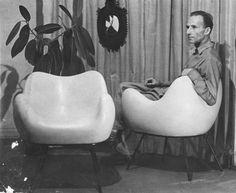 Roman Modzelewski  (1912-1997) fotel RM58
