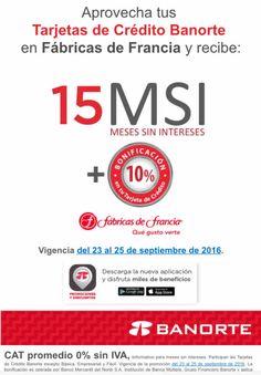 Fábricas de Francia: 10% bonificación y 15 msi con Banorte