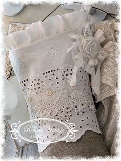Tattered Lace Christmas Stocking from REBECCA VINTAGE - A Gathering Place