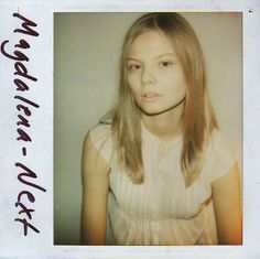 Model polaroids from when they were first starting out. And before they had a hair and makeup team on call. Model Polaroids, Dna Model, Magdalena Frackowiak, Famous Models, Female Models, Women Models, Vs Models, Fashion Models, Hair Makeup