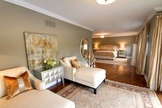 McPhail Way - eclectic - bedroom - other metro - Avalon Interiors-Benjamin Moore Sandy Hook Gray Decor, Farm House Living Room, Interior, Grey Bedroom Design, Color Design Inspiration, Beautiful Interiors, Living Room Grey, Eclectic Bedroom, Master Bedroom Colors