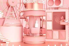 ISETAN MAKE UP PARTY Cake Shop Design, Display Design, Store Design, Beauty Room Salon, Lip Gloss Tubes, Isetan, Ads Creative, Beauty Illustration, Digital Painting Tutorials