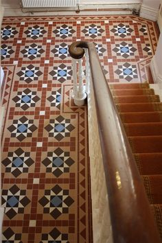 Victorian floor tiles are the best, the Original Style ones we stock are probably the closest you're gonna get to the real thing Victorian Door, Victorian Tiles, Victorian Terrace, Hall Tiles, Tiled Hallway, Georgian Interiors, Flooring For Stairs, Doors And Floors, Hallway Inspiration