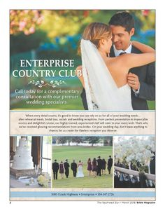 Bride 16 - Enterprise Country Club - Page A2 - The Southeast Sun: Eedition