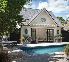 "The pool house is a popular ""flophouse"" for the family as well as neighborhood kids."