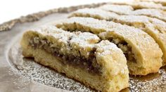 Showstopping Italian Cookies with Honey Walnut Filling, a unique and tasty shortbread cookie surrounding a sweet walnut center Mini Desserts, Desserts For A Crowd, Easy Desserts, Dessert Recipes, Easy Italian Desserts, Authentic Italian Desserts, Small Desserts, Italian Foods, Gourmet Desserts